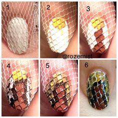 Creative Nail Art Using a Net