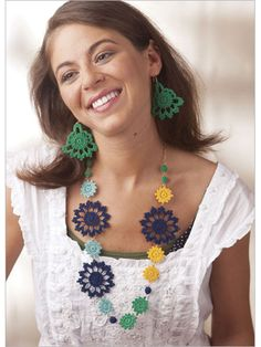 Beautiful Island Necklace and Earrings - Interweave