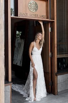 The MEGAN gown and DOSA heel | Grace Loves Lace