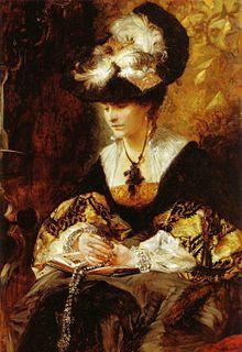 Hans Makart - Bildnis Gräfin Palffy (Die Betende), 1880