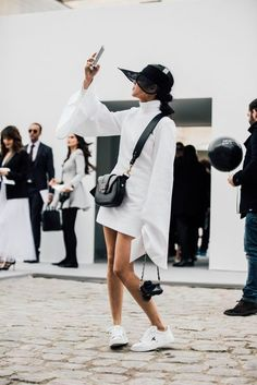 How The Street Style Gang Wear Trainers | British Vogue