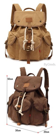 Which color do you like? Casual Canvas Buckle Backpack Travel Bag #travel #canvas #buckle #backpack #bag #canvas #camping
