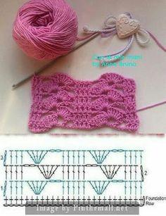 crochet patterns for landscape yarn - landscape yarn crochet patterns . crochet patterns for landscape yarn . Crochet Motifs, Crochet Diagram, Crochet Stitches Patterns, Crochet Chart, Crochet Squares, Crochet Designs, Knitting Patterns, Knit Crochet, Crochet Lace Scarf