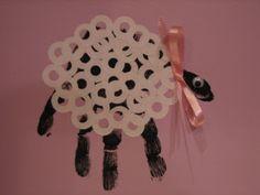 hand print  - cute lamb