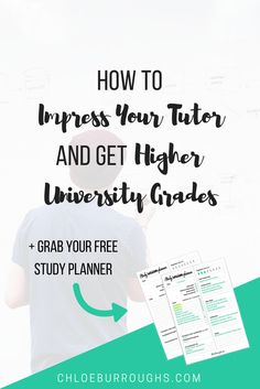 17 ways to impress your university or college tutor. Show you're dedicated and get help other students might not to improve your grades