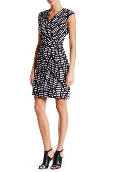 Printed Drape Dress