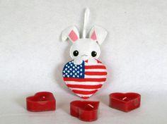 Lapin lapin kawaii Etats-unis jour de par IbelieveIcanfil sur Etsy