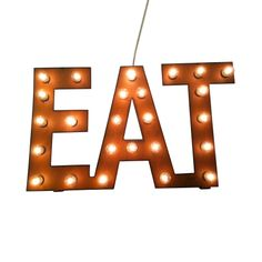 Eat Marquee Vintage-Style Sign | dotandbo.com
