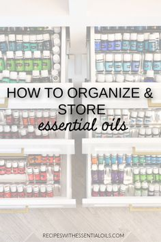 How to Organize & Store Essential Oils - Recipes with Essential Oils Essential Oil Storage, Essential Oil Bottles, Essential Oil Diffuser, Essential Oil Blends, Young Living Oils, Young Living Essential Oils, Essential Oil Beginner, Roller Bottle Recipes, Diffuser Blends
