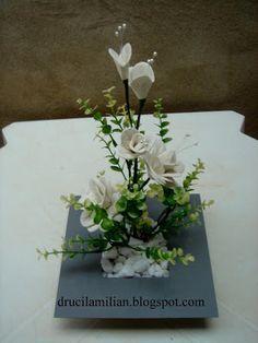 Arteirices da Dru: Azaleias Brancas em EVA