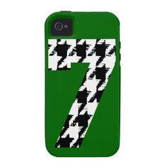 Houndstooth Lucky Seven iPhone 4/4S Cover
