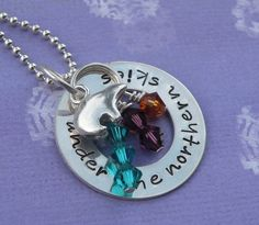 Under the Northern Skies Necklace on Etsy, $45.00