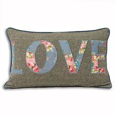Sweet Cottage Love Cushion, Denim, $15 !!