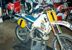 The late Georges Jobé's Honda CR 500 from the '92 Glen Helen 500 USGP. Mitch Payton of Pro Circuit built this bike specifically for Jobe to ride.