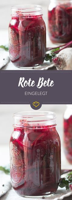 Eingelegte Rote Bete – So kannst du dich das ganze Jahr über die rote Knolle f… Pickled beetroot – so you can look forward to the red tuber all year round – pickled in vinegar with mustard seeds, Detox Salad, Detox Soup, Smoothie Detox, Detox Cleanse For Weight Loss, Beetroot Soup, Pickled Red Onions, Chutneys, Preserving Food, Detox Drinks
