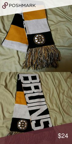 Boston Bruins scarf Bruins scarf. Never worn. Accessories Scarves & Wraps