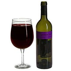 This wine glass actually holds an entire bottle of wine - that way, you can honestly say you've only had one glass!...We got this for my grandma for Christmas!  HAHA