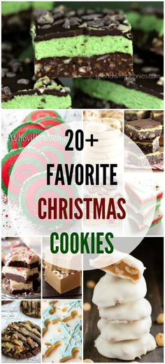 20+ of my favorite christmas cookies, from traditional to unique, these are sure to be a hit!