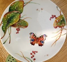 Peacock butterfly and lungwort