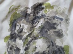 Superbe et auth Foulard JEANNE LANVIN 100% soie TBEG vintage scarf -- d110d750df3