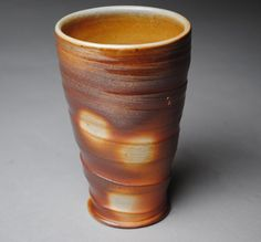 Wood Fired Tumbler Beer Cup  D2 by JohnMcCoyPottery on Etsy, $18.00