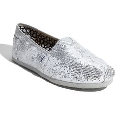 """Sparkle Toms"" created by #summerdunigan on #polyvore. #fashion #style #TOMS"