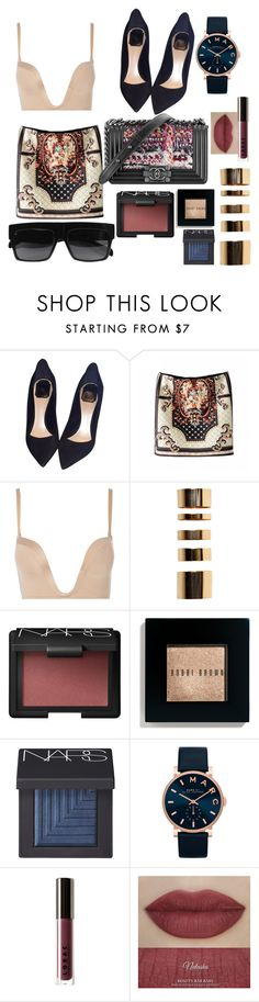 """Untitled #100"" by marinaxmilos ❤ liked on Polyvore featuring Christian Dior, Wonderbra, Boohoo, NARS Cosmetics, Bobbi Brown Cosmetics, Marc by Marc Jacobs, Chanel, LORAC and CÉLINE"