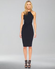 A wardrobe staple. Jersey Halter Dress by Michael Kors. The best part? Comes with a built in figure flattering belt-style wrap at the waist.