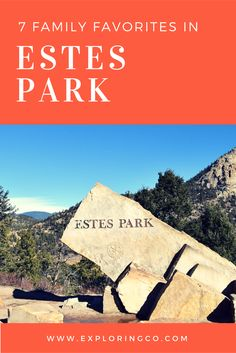 The 7 best places to take your family in Estes Park or on your next visit to Rocky Mountain National Park. Estes Park Colorado, Colorado Hiking, Camping Places, Camping Spots, Camping Guide, Rocky Mountains Colorado, Denver Travel, Us National Parks, Rocky Mountain National Park
