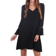 Maison Scotch Flared Sleeve Dress Contrast Shoulders In Black Scottish Fashion, World Of Fashion, Luxury Branding, Dress Outfits, Contrast, Dresses With Sleeves, Clothes For Women, Shoulder, Shopping