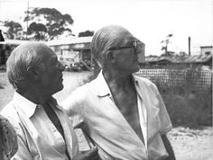 Picasso and Le Corbusier. Artists