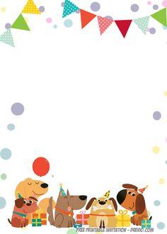 Free Printable Delighted Dogs Invitation Templates regarding Invitation Templates Free Printables - Best Invitations Free Party Invitation Templates, Templates Printable Free, Free Printables, Free Printable Birthday Invitations, Kids Birthday Party Invitations, Birthday Wishes Boy, Invitation Card Birthday, Disney Invitations, Prints