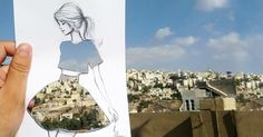 Fashion Illustrator Completes His Cut-Out Dresses With Clouds And Buildings   Bored Panda