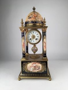 Monumental Royal Vienna clock.