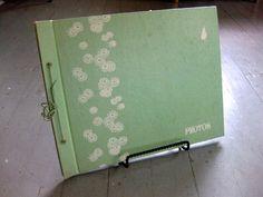 Vintage scrap book photo album, retro green paper photo book empty pages westab via Etsy