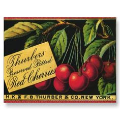 Cherries crate label