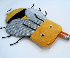 Cute Bee Pencil Case - Bee Bag - Zipper Pouch Kids Gift - School Supplies: Cute Yellow Bee   http://toyspark482.blogs...