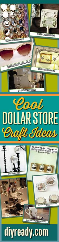 #DIY #Craft #Chic Dollar store crafts that are too adorable. Can't wait to give these DIY craft project ideas and Dollar Store DIY Projects a go! Cool DIY Ideas for Cheap and Easy Crafts  by DIY Ready http://diyready.com/dollar-store-crafts/