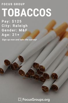 Focus Group on Tobaccos in Raleigh