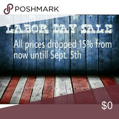 LABOR DAY SALE ?? All the prices listed as of now are the sale prices. After September 5th, they will go back to their original price. Bundle to further save ?? Other