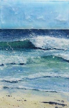 "This painting belongs in the ""Inspirations"" category because I spent a summer in Seaside, Oregon. I loved painting the whitecaps on the waves rolling onto the beach."