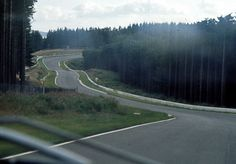 """The track from the driver's view in the early 1970s – """"Pflanzgarten"""""""