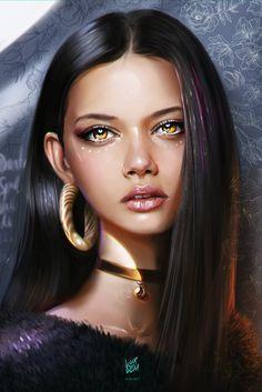 Marina Nery Portrait, Yaşar VURDEM on ArtStation at https://www.artstation.com/artwork/la1ka