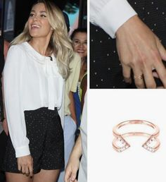 We love seeing the beautiful Lauren Conrad wearing her Rose Gold and Diamond Dagger Ring at her appearance on Good Morning America in #NYC. Styled by Tara Swennen ✨ #laurenconrad