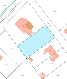 BOUWGROND Grondoppervlakte:951 m² Breedte:20 m Diepte:47 m Oriëntatie tuin:Zuid