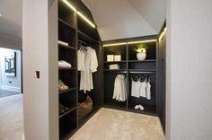 Stained Oak dressing room/ Oxshott/ Hyperion Furniture