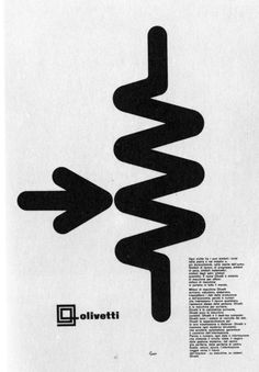 Vintage Graphic Design Olivetti ad campaign by Giovanni Pintori Comic Layout, Poster Layout, Print Layout, Vintage Graphic Design, Graphic Design Typography, Graphic Art, Graphic Posters, Design Posters, Vintage Typography