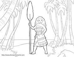 Dibujo para colorear de Vaiana (nº 18)