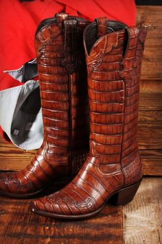 8cf3df0e611 Alligator leather boots Botas De Cowboy Personalizadas