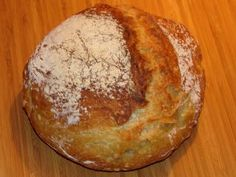 No knead artisan bread. So easy and so good.  We love it!
